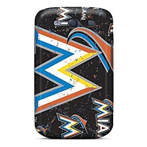 Shock-Absorbing Hard Phone Case For Samsung Galaxy S3 (Wxx5087ALEE) Provide Private Custom High Resolution Miami Marlins Image