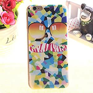 Moustache Pattern TPU Relief Thin Transparent All Inclusive Back Cover Case for iPhone 5/iPhone 5S