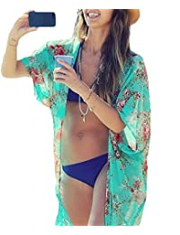 Yonala Womens Summer Fashion Printed Beach Wear Bikini Cover up Swimwear Beachwear