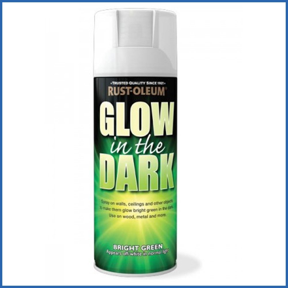 Rust Oleum AE0010006E8 400ml Glow In Dark Spray Paint: Amazon.co.uk: DIY U0026  Tools
