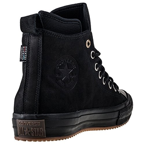 Converse Chuck Taylor All Star Hi Top Waterproof Boot (44 EU, Black / Black)