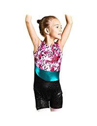 BAOHULU Unitards for Girls Gymnastics Sparkle Ribbon Stripes