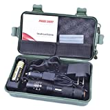 Start Super-bright 5000LM 5-mode Flashlight + AC & Car Charger + Battery + Nylon Pouch +bicycle mount +military box