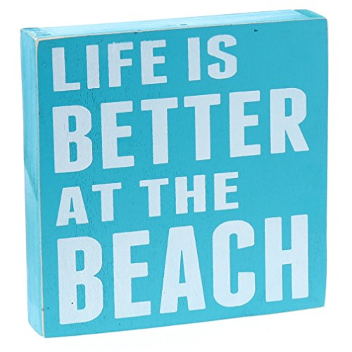 Barnyard Designs Life is Better at The Beach Wooden Box Wall Sign Beach House Decor Sign 8