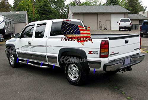H2Mauto fit:1999-2002 Chevy Silverado 3Dr Extended Cab Short Bed w/Flare Rocker Panel Trim 11Pc 6