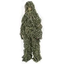 New Ghillie Suit M/L or XL/XXL Camo Woodland Camouflage Forest Hunting 4-Piece + Bag (OUTD-V001 by VIVO)