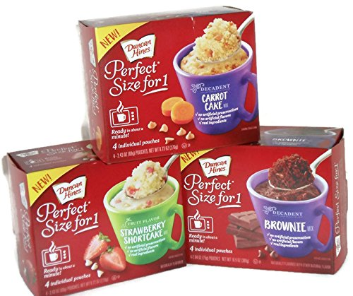 Duncan Hines Perfect For 1 Carrot Cake Brownie And Strawberry Shortcake Mix Ready In 1 Minute