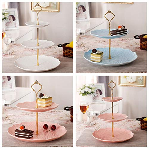 Liobaba 3 Tier Hardware Crown Cake Plate Stand Handle Fitting Wedding Party Golden Plated Decorating Stand Platform Cupcake Stand by Liobaba (Image #1)