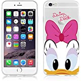 New Disney Winnie The Pooh Mickey & Daisy CLEAR TPU Soft Case For Iphone 6/6S & 6+/6+.S (APPLE IPHONE 6/6S, DAISY DUCK)