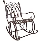 Titan Outdoor Metal Rocking Chair Porch Patio Garden Seat Deck Decor Review