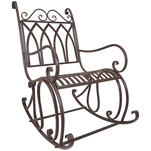Titan Outdoor Metal Rocking Chair Porch Patio Garden Seat Deck Decor -