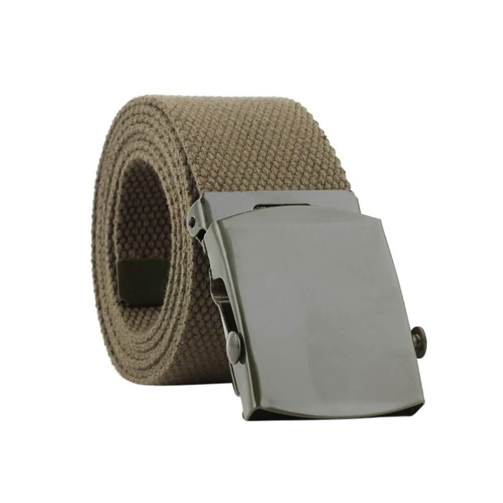 yoyorule Belts Men Women Automatic Fashion Nylon Belt Buckle Fans Canvas Belt