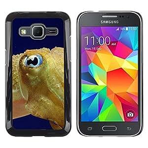 TopCaseStore / la caja del caucho duro de la cubierta de protección de la piel - Fish Blue Eye Golden Ocean Swim Blue Sea - Samsung Galaxy Core Prime SM-G360