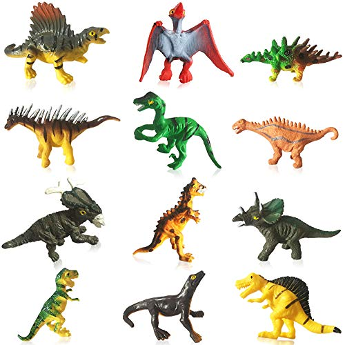 Dinosaur Toys for 3 Year Olds Boys and Girls, Mini Dinosaurs Toys for Cupcake Topper/Birthday Cake Topper Decorations/Dinosaur Theme Party/Easter Egg ()