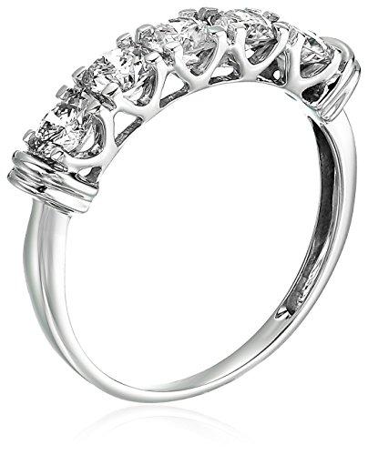 1 CT 5 Stone Diamond Ring 14K White Gold