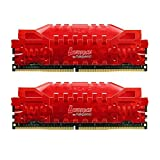 Asgard Memory DDR4,Leorice Memory Ram 16GB(8GX2) 2400MHZ PC4 19200 CL16 1.2V for Desktop Red with Light Breathing