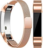 Vancle Metal Bands Compatible with Fitbit Alta HR Bands, Fitbit Alta Accessories Replacement Bands with Magnetic Closure Clasp for Fitbit Alta HR/Fitbit Alta (Rose Gold, Small)