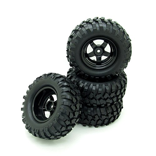 SD Tires 4 x 1:10 RC Off-Road Car Wheel Ties 5 Spokes Wheel Rim 12 mm Hex Blue RC Parts