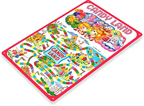 Tinworld TIN Sign C263 Candy Land Classic Retro Game Board Game Room Sign -