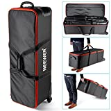 Neewer Photo Studio Equipment Carry Bag,41x13x12inch/103x33x30CM Carrying Trolley Case, Padded Compartment, Wheel, Handle, for Light Stand, Tripod, Strobe Light, Umbrella, Photo Studio