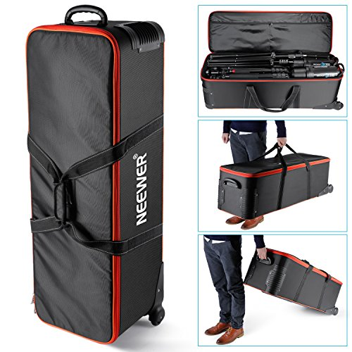 Neewer Photo Studio Equipment Carry Bag,41x13x12inch/103x33x30CM Carrying Trolley Case, Padded Compartment, Wheel, Handle, for Light Stand, Tripod, Strobe Light, Umbrella, Photo Studio Electronic Trolley