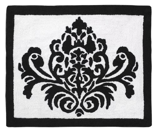 Black and White Isabella Accent Floor Rug by Sweet Jojo Desi