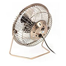 "Twitfish® - Vintage Art Deco USB Desk Fan (4"")"