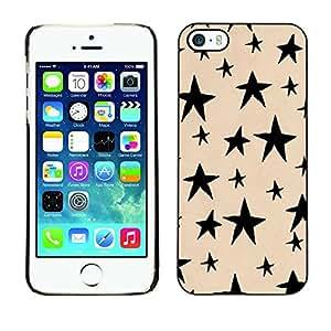 TopCaseStore / la caja del caucho duro de la cubierta de protección de la piel - Hand Drawn Beige Black Night - Apple iPhone 5 / 5S