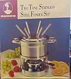 Roshco Two Tone Stainless Steel Fondue Set