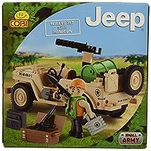 Cobi 24091 COBI Blocks Small Army - Jeep Willus MB with Minigun Building Kit