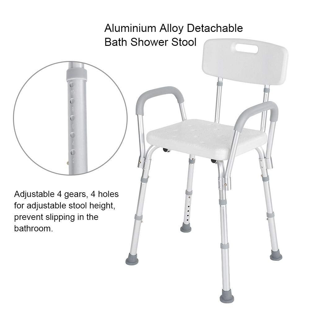 Shower Seat, Manufactured with High Polyethylene Material Adjustable Anti-Slip Detachable Bath Shower Stool for Pregnant Elderly Disabled Care by ZJchao (Image #2)