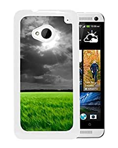 Dark Clouds Over The Fields (2) Durable High Quality HTC ONE M7 Phone Case