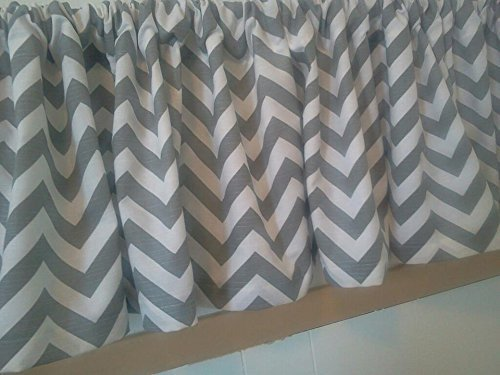 Grey and white chevron zig zag valance Curtains, 100% quality cotton slub Premier Prints drapery fabric