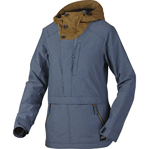 Oakley Women's Thunderbolt Pull Over BZS Jacket, Small, Blue Shade