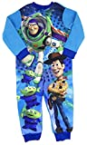 Boys Toy Story Buzz Woody and Hamm All in One Sleepsuit Pyjama Sublimated Fleece (2-3 Years, Blue Woody Buzz and The Aliens)