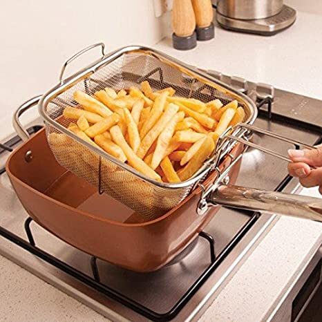 6 in 1 pan Copper Chef 4 pc system