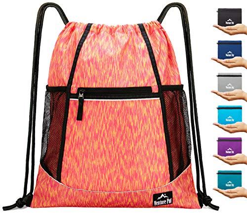 - Venture Pal Packable Sport Gym Drawstring Sackpack Backpack Bag with Wet Pocket for Men,Women,Kids-Orange