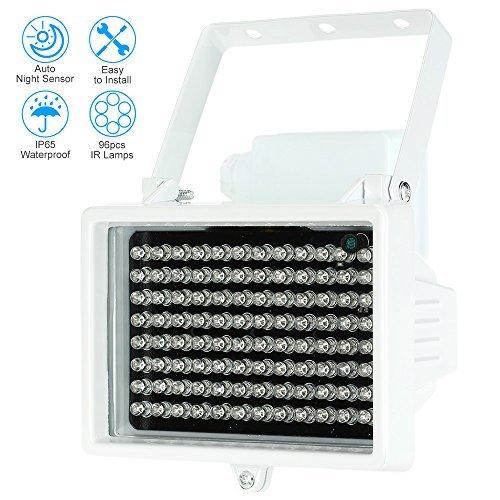 KKmoon 96 LED Indoor/Outdoor Long Range 33-60ft IR Illuminator Night Vision Waterproof For CCTV Security Camera