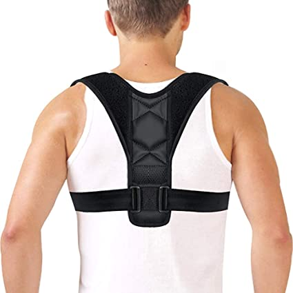 Correcteur de posture Dos Adaptable Femme Homme Epaule Support Sangles  Orthèse de maintien pour Colonne Vertébrale 17bee271a35