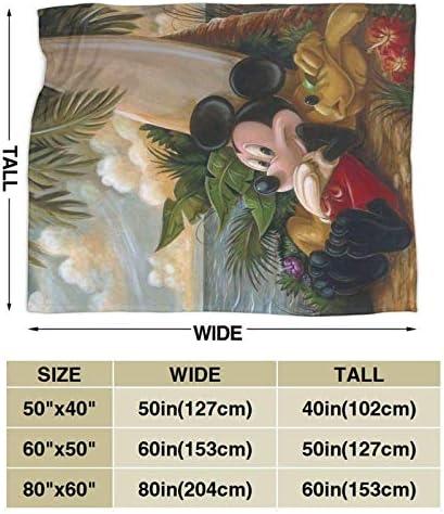 Hinyast Couverture Mickey Mouse - Couverture Mickey Mouse - Couverture ultra douce et chaude - 152,4 x 127 cm