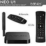 MINIX NEO U1 Android 64-Bit Super HD 4K TV Box Streaming Media Players Devices with A2 Lite Air Mouse Remote Control