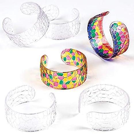 Baker Ross AT859 Pennarelli per Vetro Punta Sottile per progetti di artigianato artistico per bambini assortiti confezione da 8