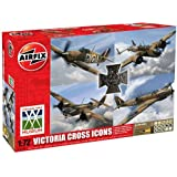 Airfix A50129 Victoria Cross Collection 1:72 Scale Military Aircraft Gift Set including Paint, Glue and Brushes