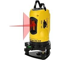 KKmoon Professionnel Niveau Laser Croix 10m 2 Lignes/Laser Rouge Horizontal et Verticale /Grand Angle de 360°/UsageIntérieur et Extérieur /Support Réglable