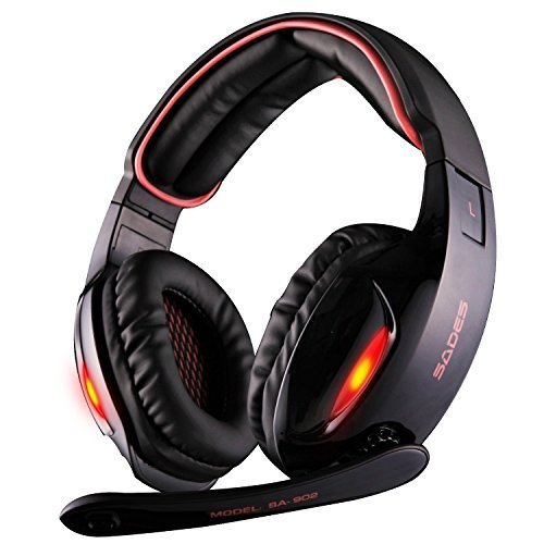 Sades SA902 7.1 Channel Virtual USB Surround Stereo Wired PC Gaming Headset...