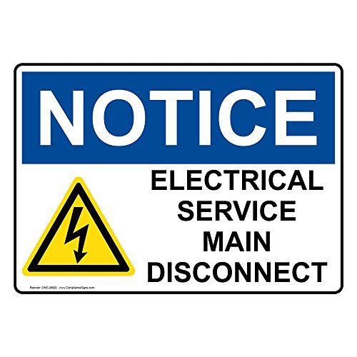 service disconnect sign - 1