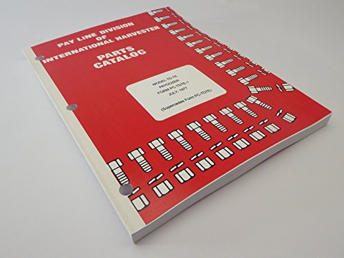IH International Harvester TD-7E PayDozer Crawler Dozer Parts Catalog Manual