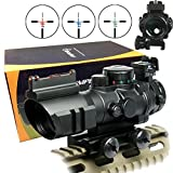 SNIPERÂTactical Scope with Front Fibe Optics Sight and Side Rail and Horseshoe Reticle