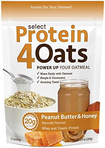 Pescience Select Protein 4 Oats, Peanut Butter Honey, 12 Serving