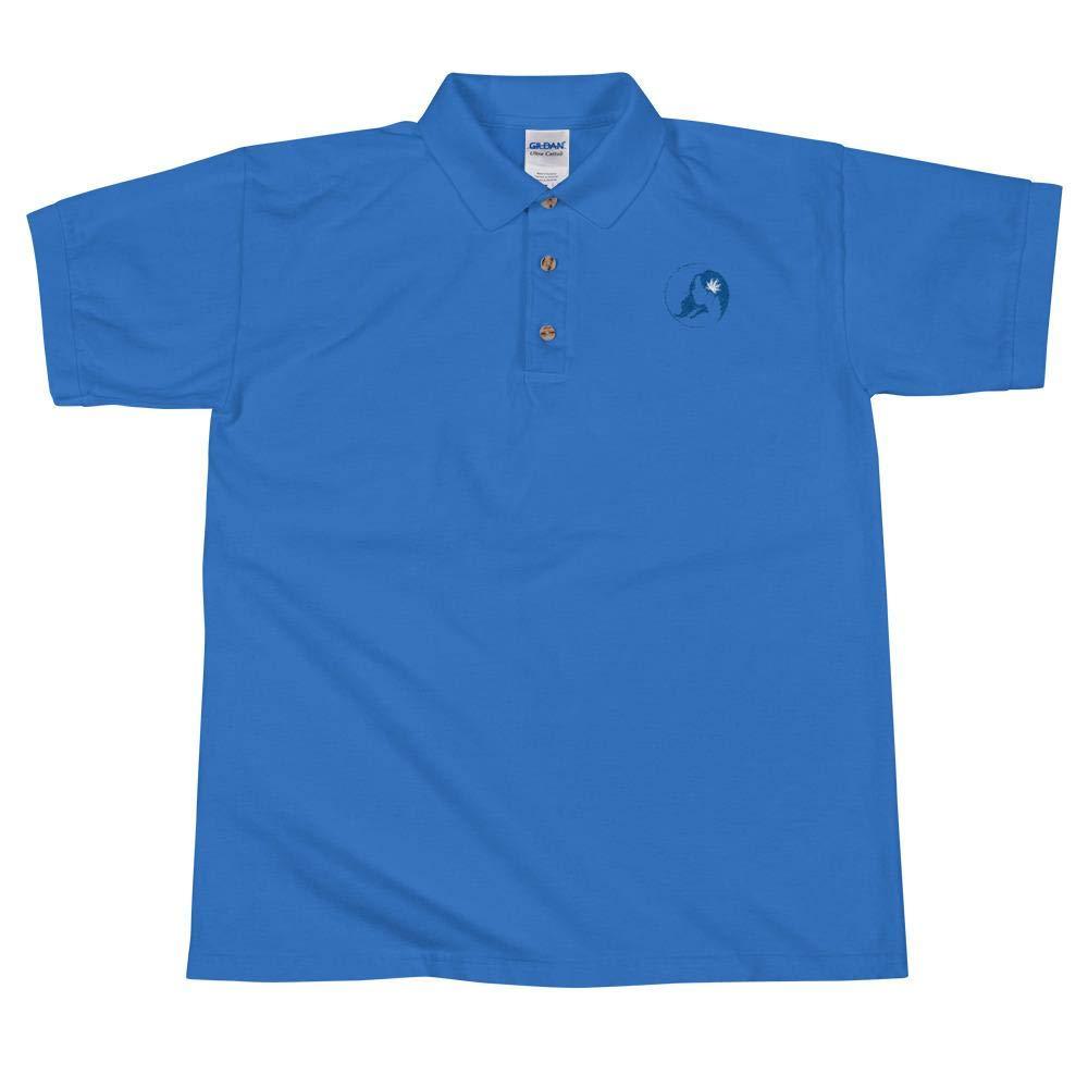 Marys Apparel Embroidered Polo Shirt w//Blue Logo Ms